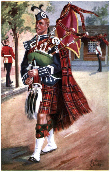 Regimental nicknames and traditions of the british army by unknown scots guardspiper in state dress fandeluxe Images