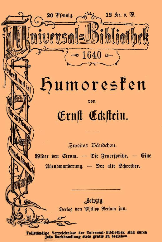 The Project Gutenberg eBook of Humoresken (Zweites Bändchen), by ...