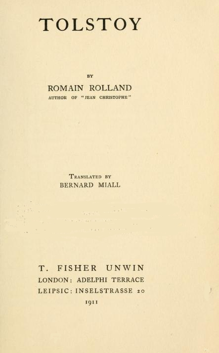 The project gutenberg ebook of tolstoy by romain rolland 2015 ebook 49435 language english character set encoding iso 8859 1 start of this project gutenberg ebook tolstoy produced by clare graham fandeluxe Choice Image