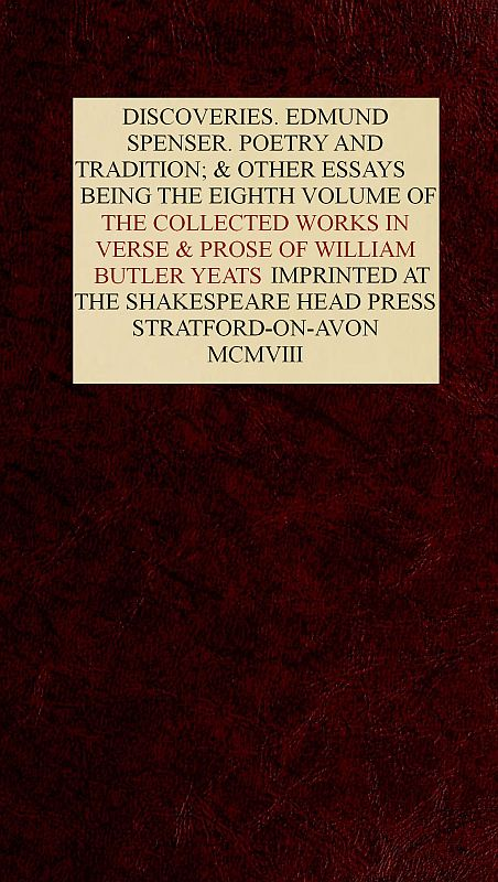 The Project Gutenberg Ebook Of The Collected Works Of William Butler