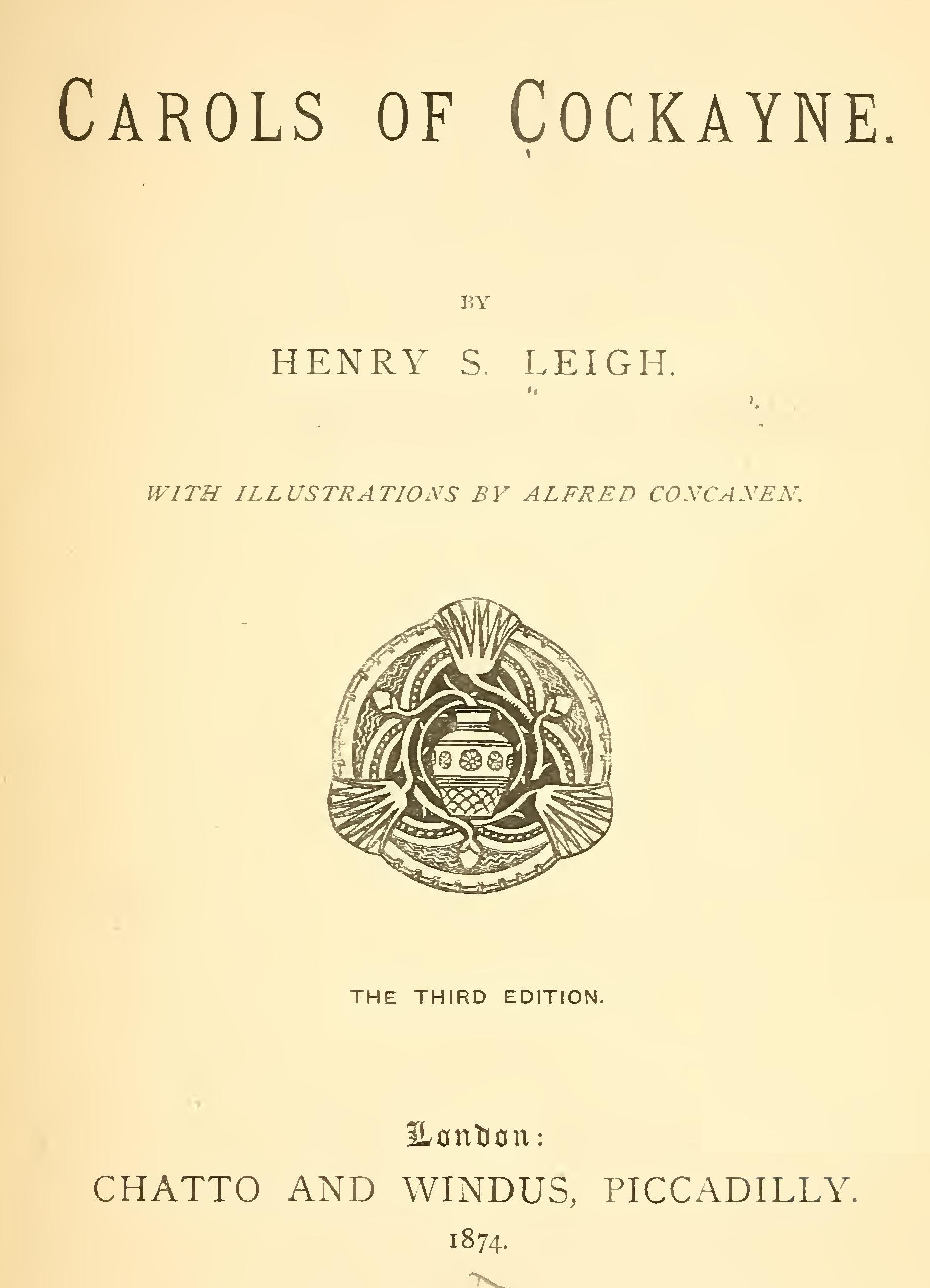 Carols Of Cockayne By Henry S Leigh