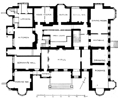 The Project Gutenberg eBook of Early Renaissance Architecture by J – Knole House Floor Plan