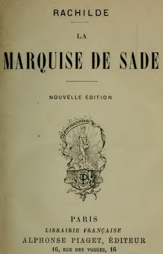 The Project Gutenberg eBook of La Marquise de Sade, by Rachilde. 739880e6fb2f