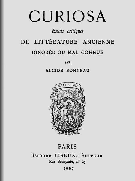f1fa98fb6ba7 The Project Gutenberg eBook of Curiosa — Essais critiques de ...