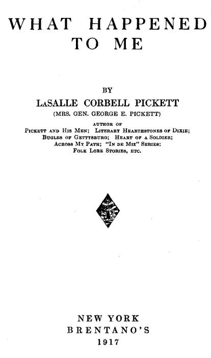 The Project Gutenberg Ebook Of What Happened To Me By Lasalle