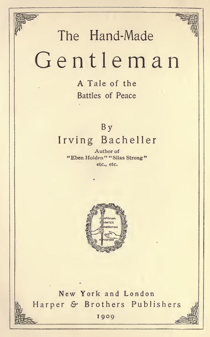 The hand made gentleman by irving bacheller 0011m fandeluxe Image collections