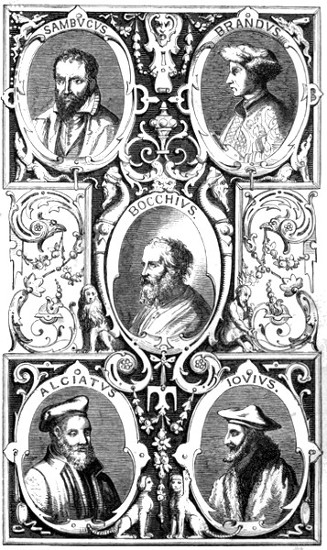 portraits from original platesbocchius by bonasone ad 1555 the others by theodore de bry ad 1597