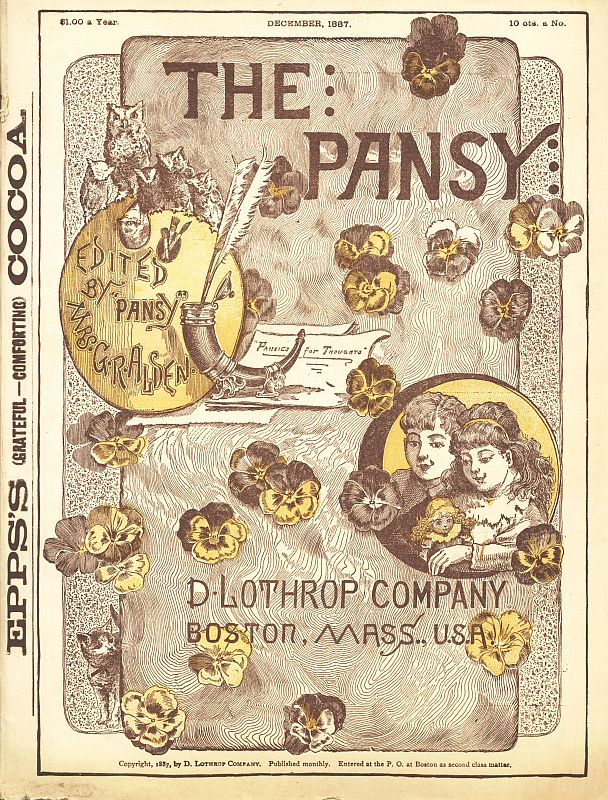 The project gutenberg ebook of the pansy december 1887 by pansy cover fandeluxe Choice Image