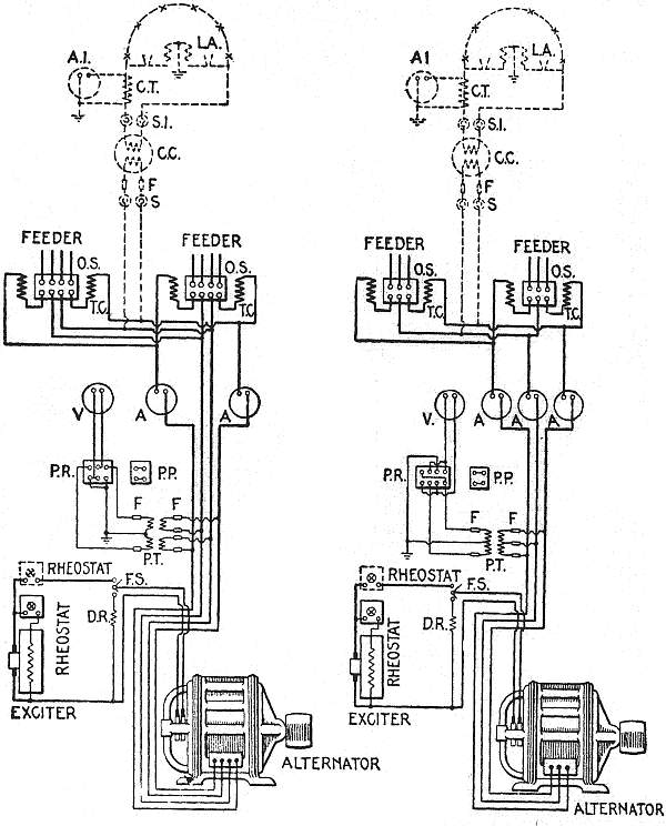The project gutenberg ebook of hawkins electrical guide number 8 diagrams of connections for two phase and three phase installations a and a1 ammeter cc constant current transformer ct current transformer dr cheapraybanclubmaster Choice Image