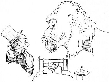 Doctor and lion talking