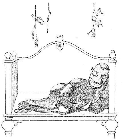 King lying down reading