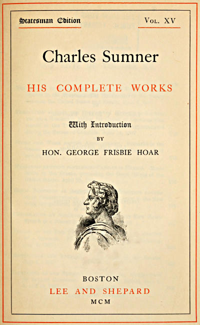 The Project Gutenberg eBook of Charles Sumner his plete