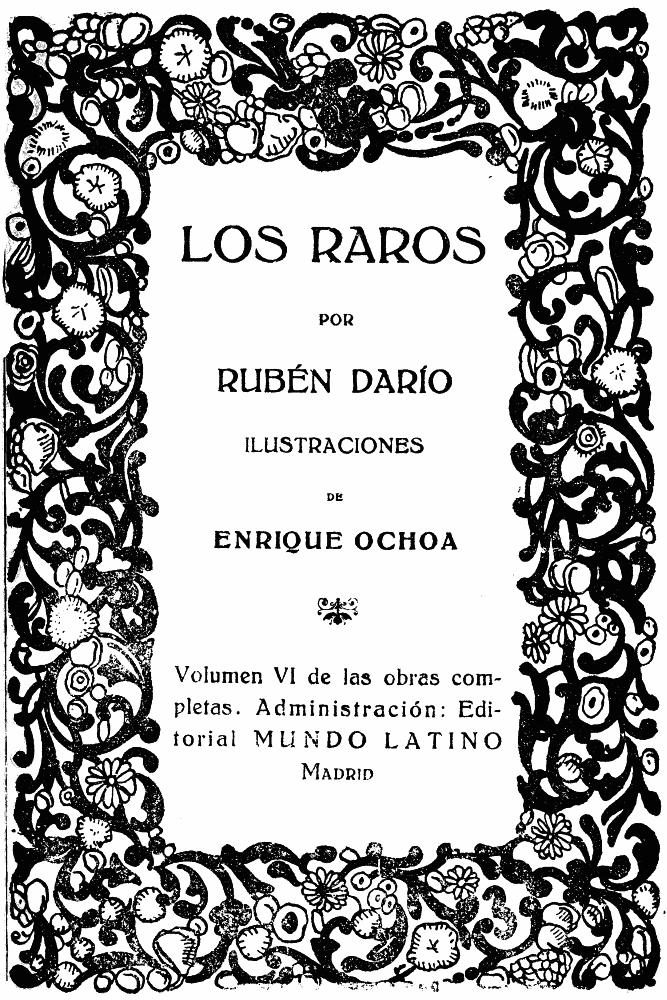The Project Gutenberg Ebook Of Los Raros Por Rubén Darío