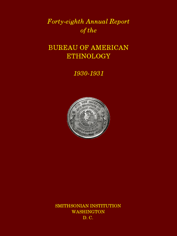 Forty eighth annual report of the bureau of american ethnology the cover image was created by the transcriber and is placed in the public domain fandeluxe Gallery