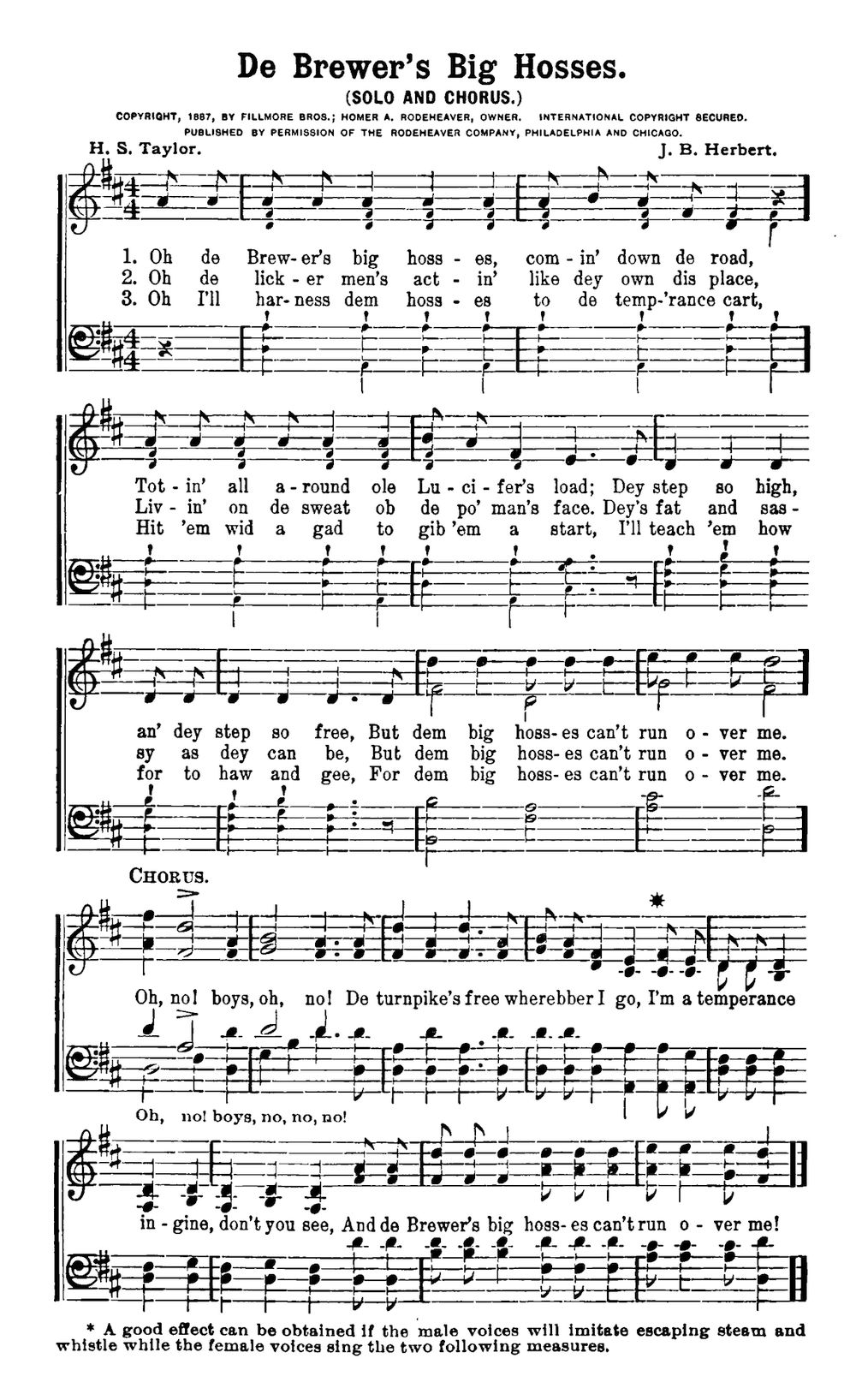 Musical Score Of The Above