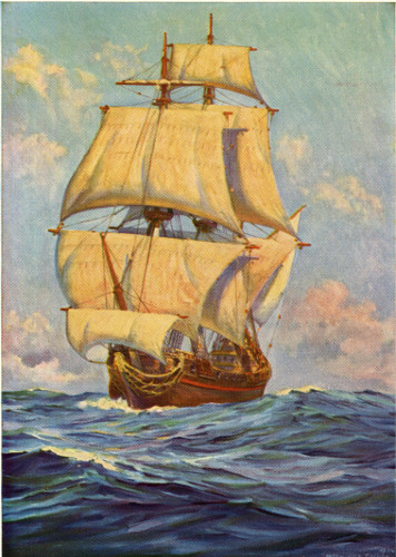 With her great sails spread she thrust her nose into the heavy swell. 322e84f20