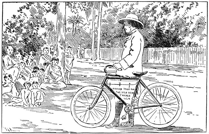 THE BICYCLE SURPRISES THE BURMANS.—(See Page 81.). 386b18b67