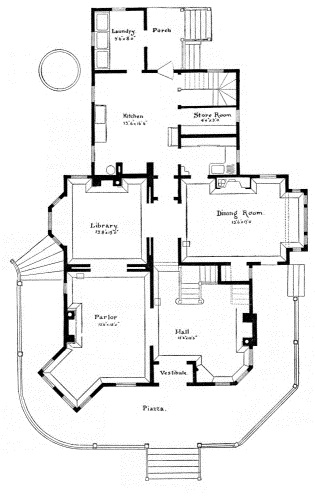 The project gutenberg ebook of scientific american architects and first story plan fandeluxe Gallery