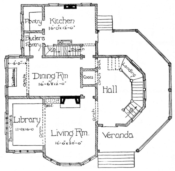 The project gutenberg ebook of scientific american architects and first floor plan fandeluxe Images