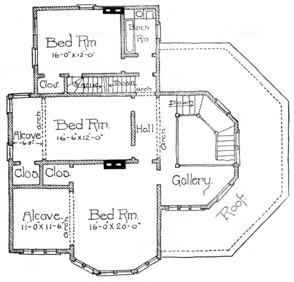 The project gutenberg ebook of scientific american architects and second floor plan fandeluxe Gallery