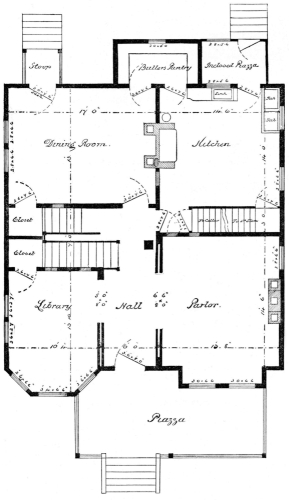 The project gutenberg ebook of scientific american architects and 1st story plan fandeluxe Gallery