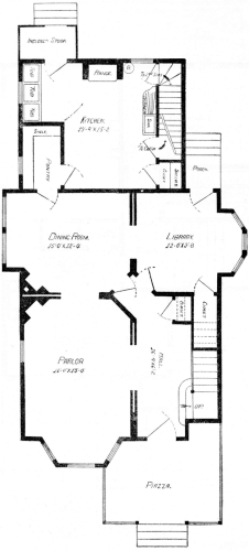 The project gutenberg ebook of scientific american architects and first floor plan fandeluxe Gallery