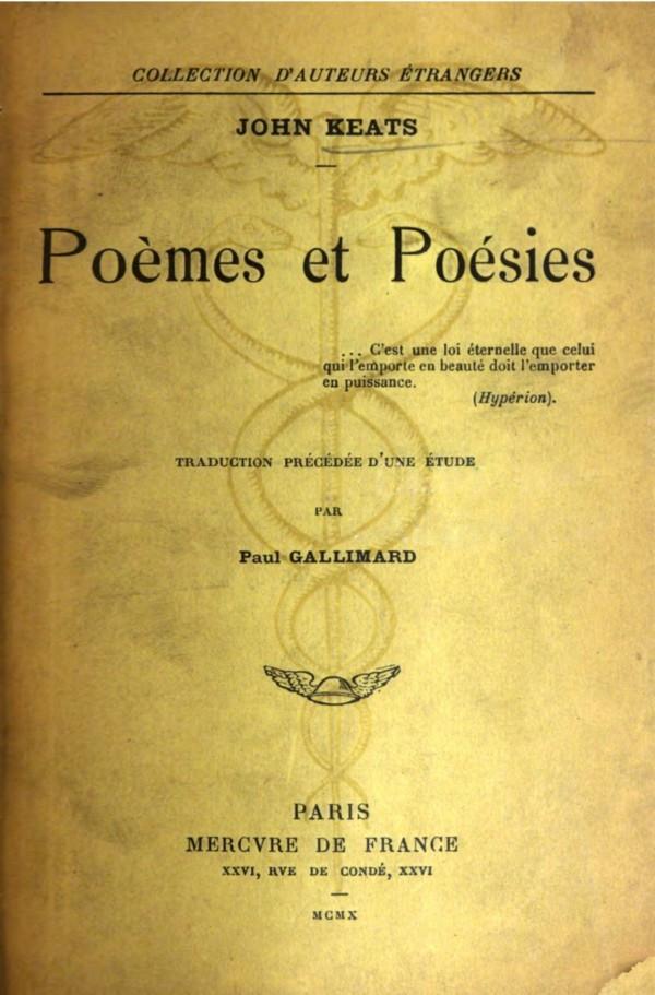 The Project Gutenberg Ebook Of Poèmes Et Poésies By John Keats