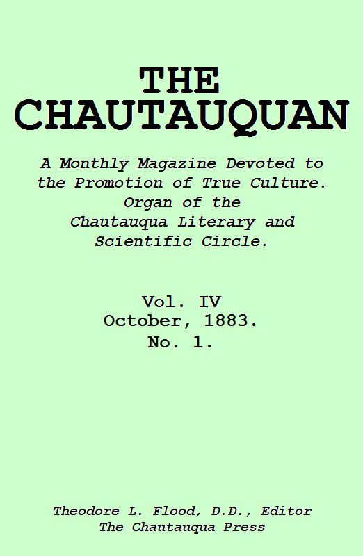 The Project Gutenberg Ebook Of The Chautauquan October 1883 By
