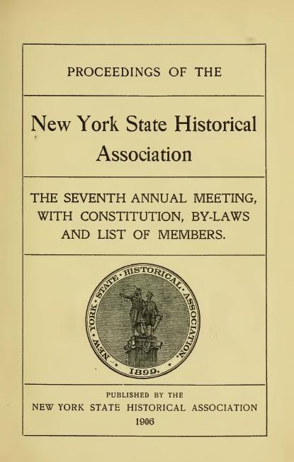 1906 Proceedings Ny Hist Asoc