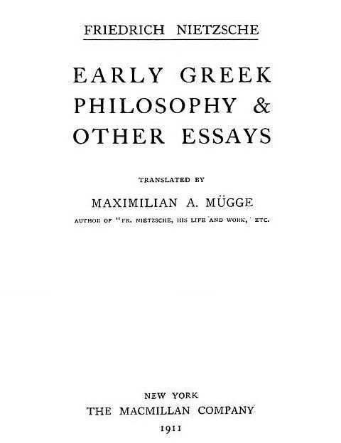 The Project Gutenberg eBook of Early Greek Philosophy and