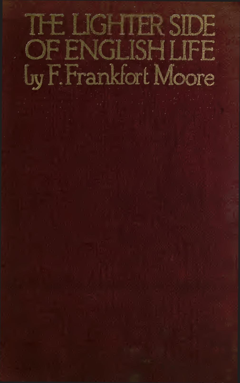 the lighter side of english life by frank frankfort moore