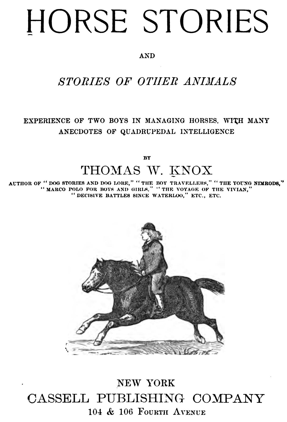 Horse stories by thomas w knox contents horse stories and stories of other animals fandeluxe Images