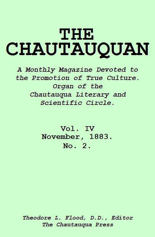 The Project Gutenberg Ebook Of The Chautauquan November 1883 By