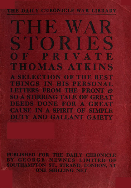 The Project Gutenberg Ebook Of The War Stories Of Private Thomas
