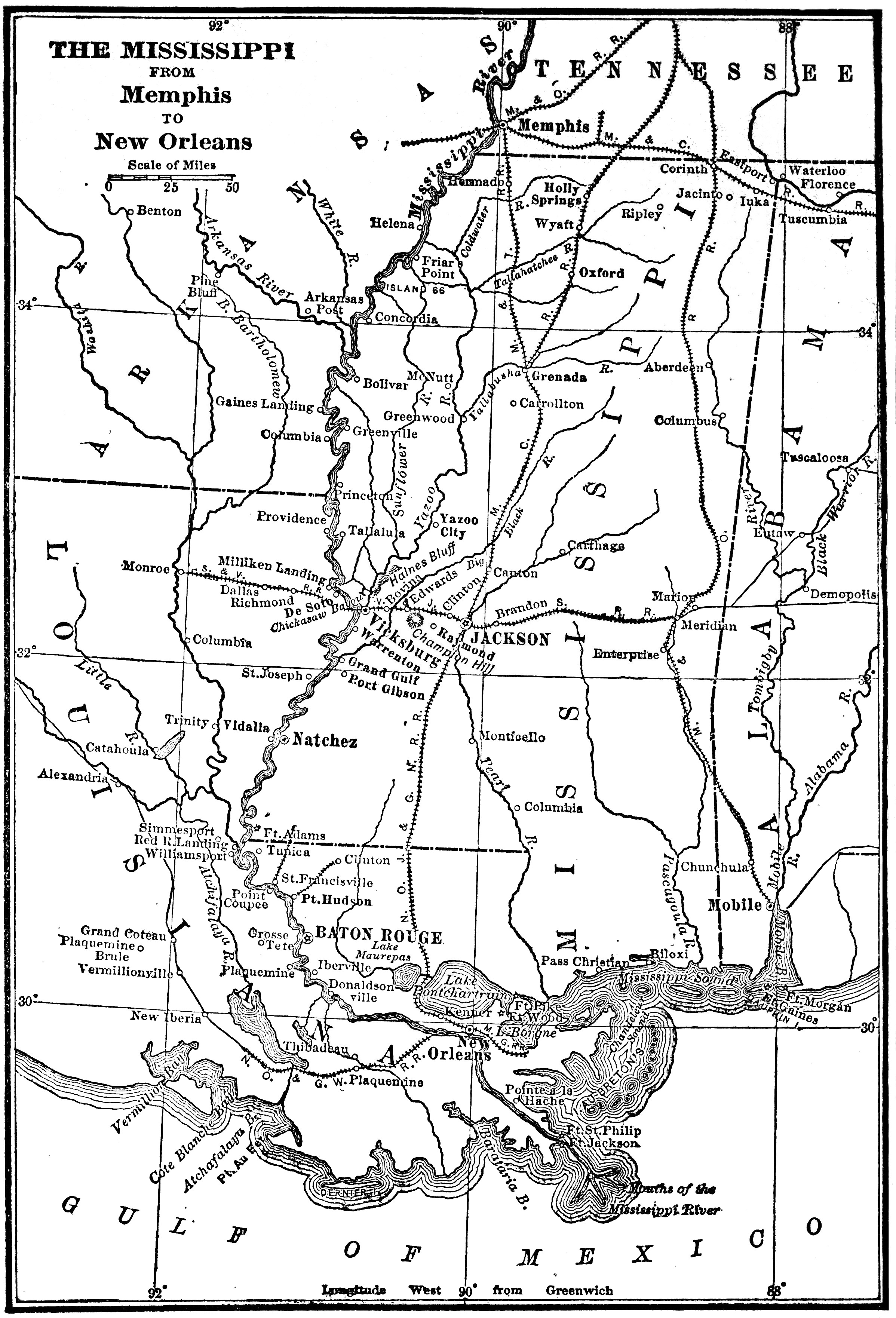 THE MISSISSIPPI FROM Memphis TO New Orleans