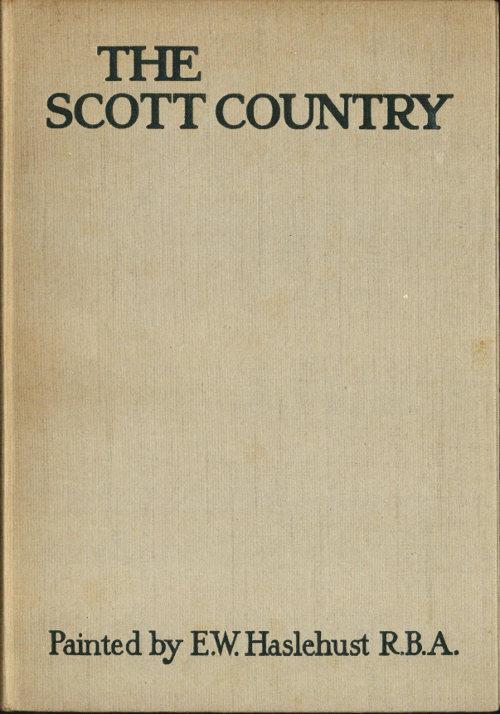 ASHESTIEL HOUSE SIR WALTER SCOTT SCOTTISH BORDERS VINTAGE MOUNTED PRINT c1920
