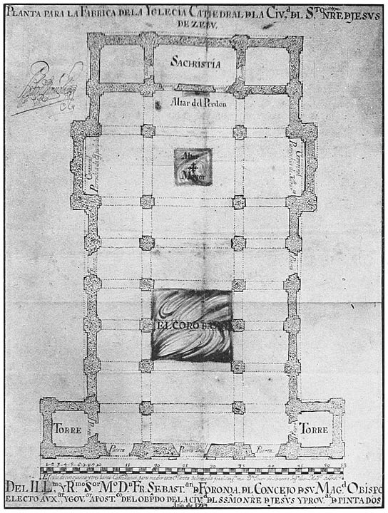 The philippine islands 14931898 explorations by early navigators plan of ceb cathedral drawn by juan de siscarra engineer fandeluxe Images