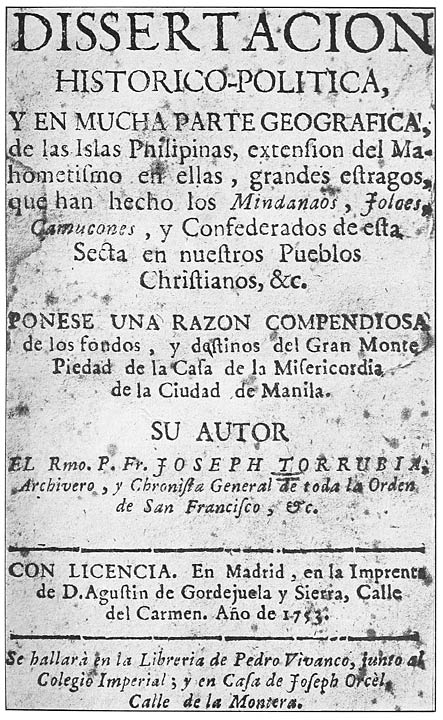 The philippine islands 14931898 explorations by early navigators title page of dissertacion historico politita fandeluxe Images