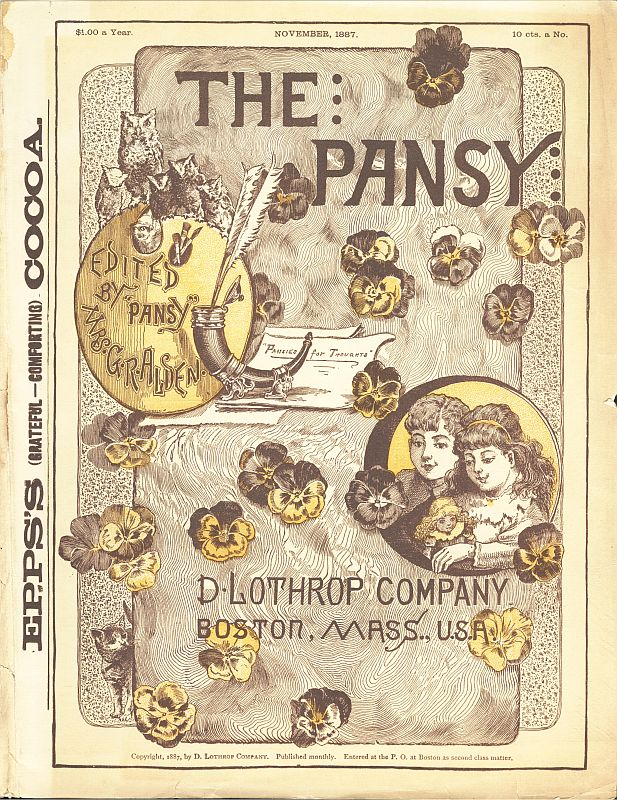 The project gutenberg ebook of the pansy november 1887 by pansy cover fandeluxe Images