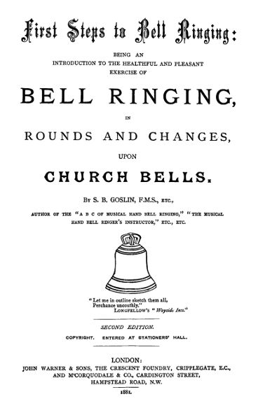 The project gutenberg ebook of first steps to bell ringing by title page fandeluxe Image collections