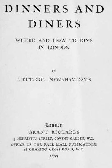 The Project Gutenberg Ebook Of Dinners And Diners By Lt Col