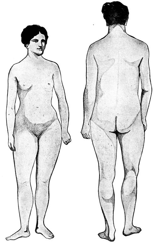 Showing proportions of man and woman.
