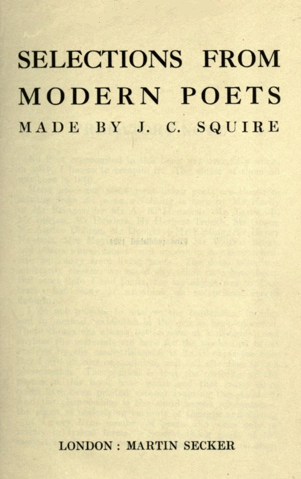 The Project Gutenberg Ebook Of Selections From Modern Poets By Various