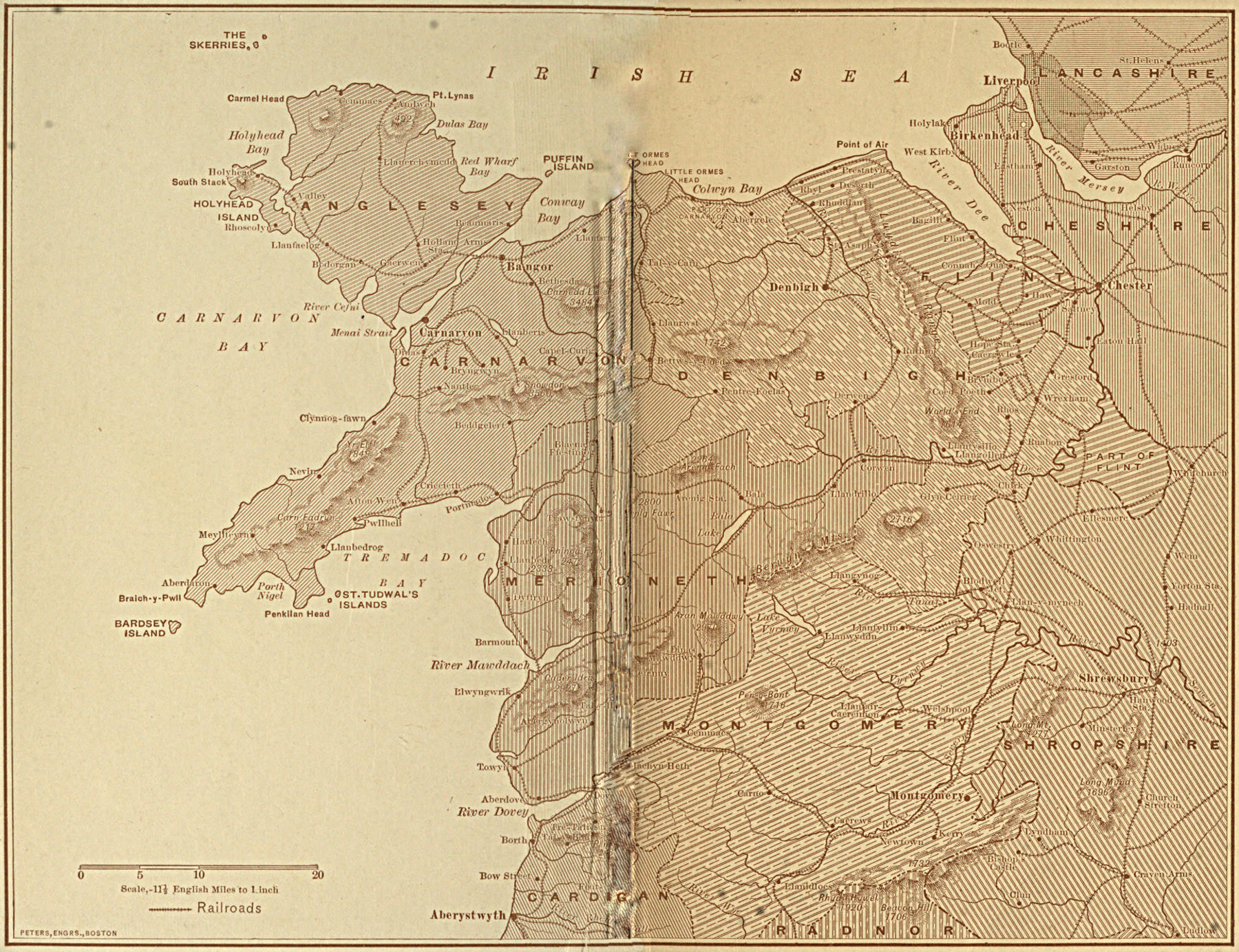 The project gutenberg ebook of gallant little wales by jeannette map of wales fandeluxe Images