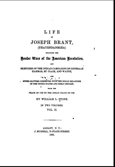Life Of Joseph Brant Vol 2