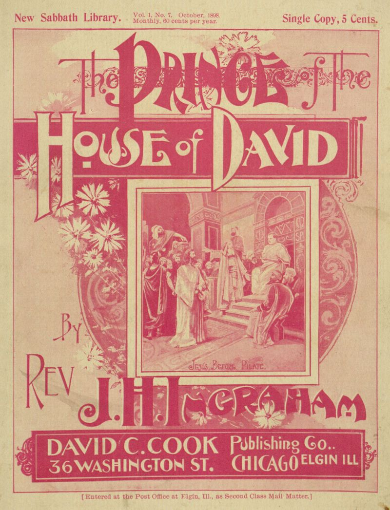The project gutenberg ebook of the prince of the house of david by cover fandeluxe Gallery