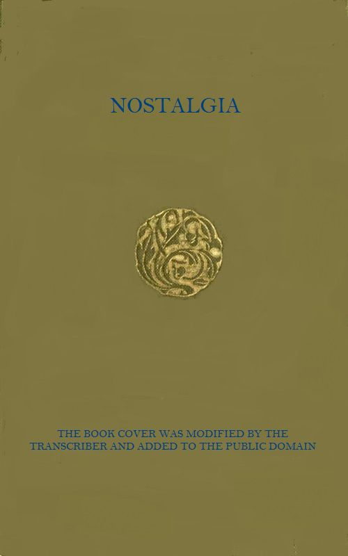 The Project Gutenberg Ebook Of Nostalgia By Grazia Deledda