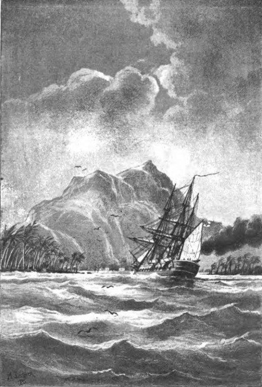 Ein deutsches Kriegsschiff in der Südsee, by B. von Werner—A Project ...