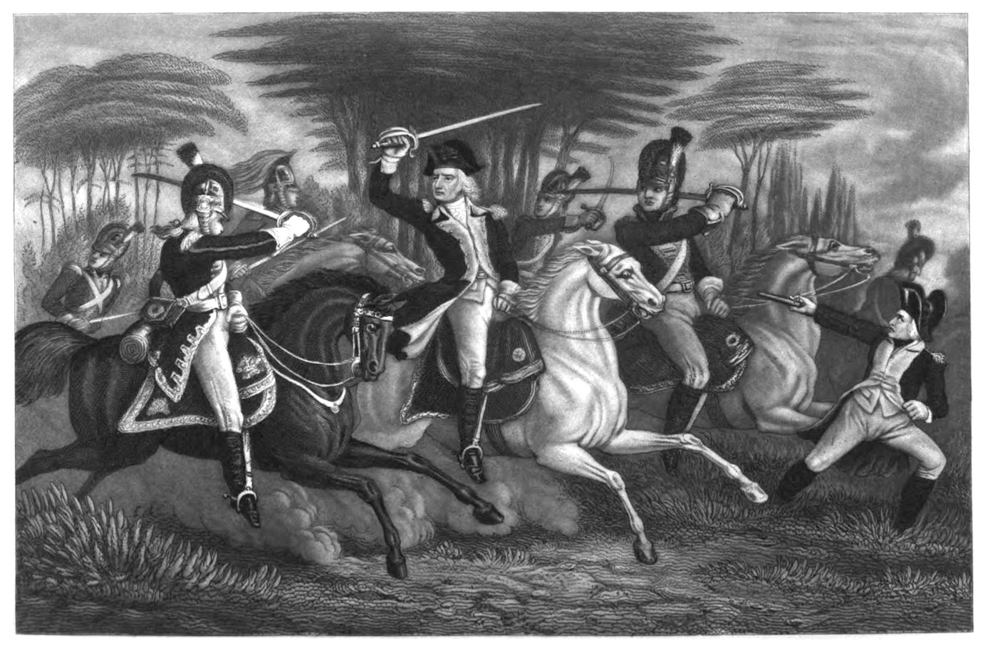 Col Washington At The Battle Of Cowpens