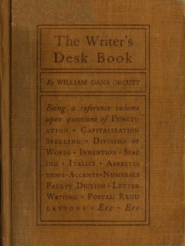 THE WRITERS DESK BOOK
